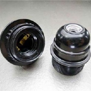 E26锁式半牙电木灯头灯座